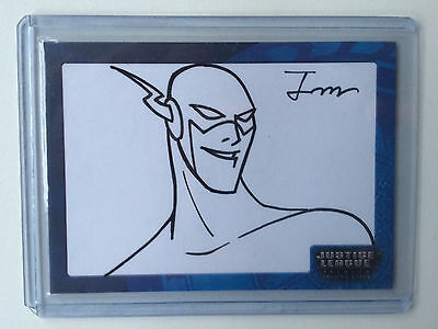 Inkworks Justice League Sketch Card The Flash Bruce Timm