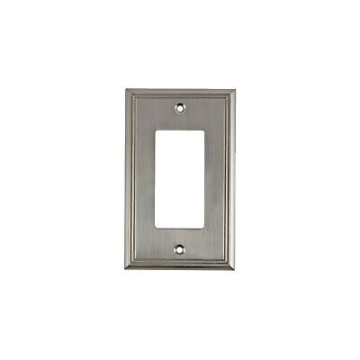 Wall Light Switch Plate Rocker Toggle Cover Decorative Brushed Nickel 1 Gang