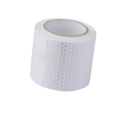 """3M White Gloss Self Adhesive Reflective Tape 2"""" Wide Safety Film Stickers"""