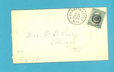 USA, cover of Franklin Falls, NH, 6 page letter dated 1881, 3 ct Geen Wash. (544