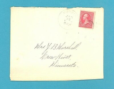 USA, Old cover posted Husdon Ohio, 1897, with 4 page letter, 2 cent Carmine (540