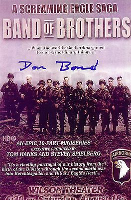 Donald Bond Band of Brothers 101 AB 506 E Co Autographed Signed Photo TOUGH