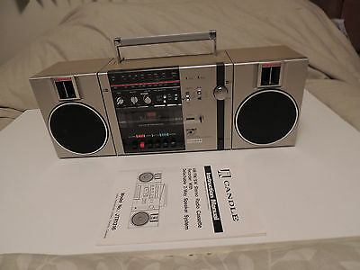 Vintage CANDLE BOOMBOX AM/FM/SW Stereo Radio Cassette Recorder JTR 1316 JTR1316