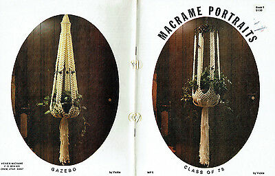 Macrame Pattern Book ~ Vintage 1978 ~ Some Lovely Plant Hangers to make!!