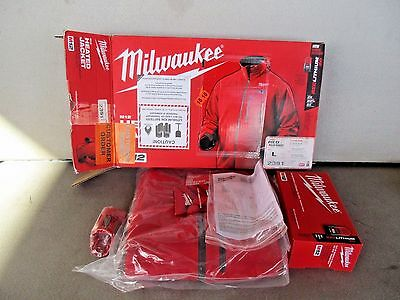 Milwaukee 2391-L LARGE RED M12 Cordless Lithium-Ion Heated Jacket Kit Battery