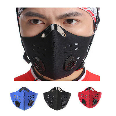 1PC Outdoor Bicycle Half Face Mask Anti Dust Pollution Filter Cycling Motorbike
