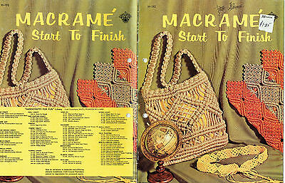 Macrame From Start to Finish  ~ Vintage 1971 ~ Easy Patterns & Instructions