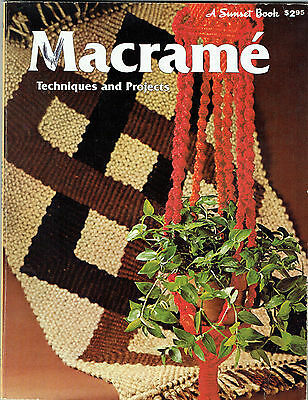 Macrame Techniques & Projects  ~ Vintage 1971 ~ Detailed book of 80 pages