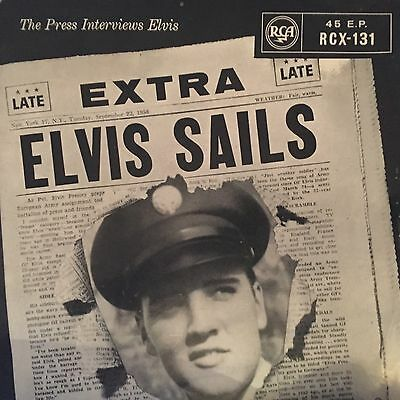"""Elvis Presley Extra Sails Interview EP Cover Only Vinyl 7"""" Rare RCA"""