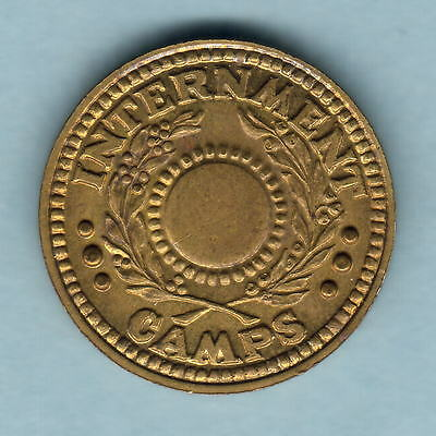 Australia - Internment Camps. WW.11 One Penny..  NO Central Hole.. gEF