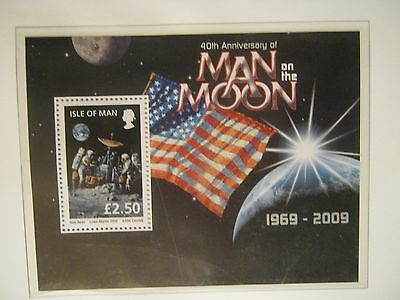 IOM UNMOUNTED MINT @))( MAN ON THE MOON FACE £2..50p