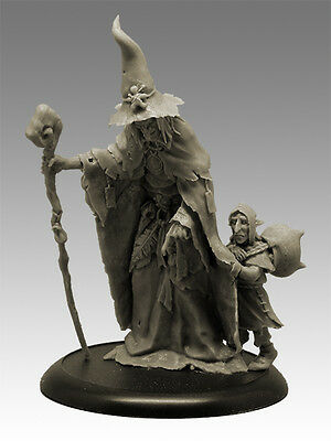 WITCH AND HER DISCIPLE 54mm Scale RESIN Black Sun Miniatures