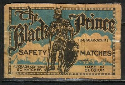 old matchbox label Belgien The Black Prince Average contents 50 matches b87