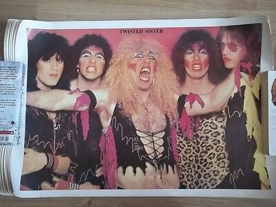 5 Old Twisted Sister Poster From Around 1990