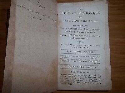 The Rise And Progress of Religion in The Soul 1795 Thirteenth edition