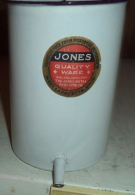 vintage jones metal products hospital surgical enamelware irrigator planter
