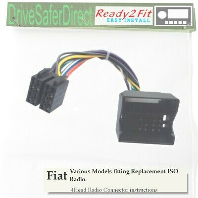 4-Head-6000-803 Ready2Fit Cable for ISO Radio/Fiat Qubo,Scudo,Ulysse