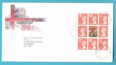 European Football Championship 96.first Day Cover.stamp Block With George Best