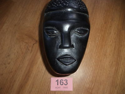 African face carved wooden box carved head box