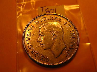 Canada 1945 50 Cent Coin Tag # T801