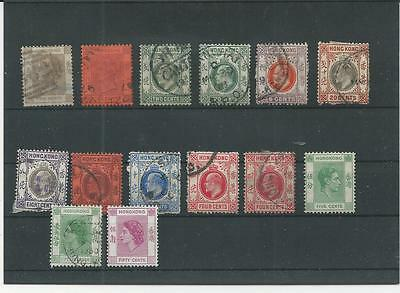 Trade Price Stamps Early Hong Kong On Stockcard
