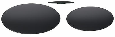NEW Plain Black Glass Lazy Susan Serving Turntable Rotating Tray Cake Decorating