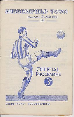 HUDDERSFIELD TOWN v BURY 52-53 LEAGUE MATCH