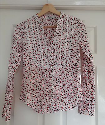 Vintage Laura Ashley ladies blouses X 2 ditsy floral and tartan.