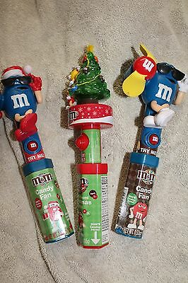 3 M & M  CHRISTMAS CHARACTER BATTERY LIGHT UP TREE & SPINNERS     Mars Inc.