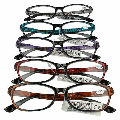 Lesser & Pavey Reading Glasses In 5 Colours & 3 Strengths Style - Lp29381