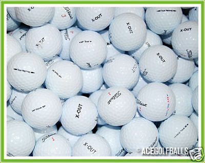 """24 Mixed TITLEIST """"X-Out / Practice"""" Lake Golf Balls - PEARL / GRADE A"""