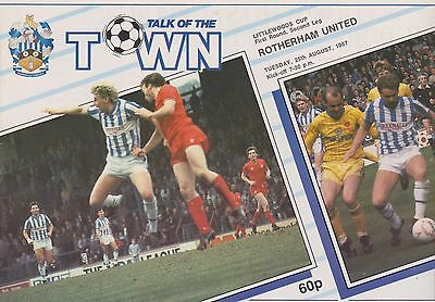 HUDDERSFIELD TOWN v ROTHERHAM UNITED 87-88 LEAGUE CUP MATCH