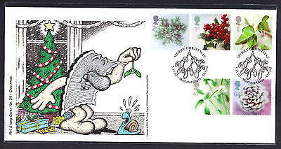 2002 GB Great Britain Phil Stamp First Day Cover FDC Christmas stamps 92 of 100