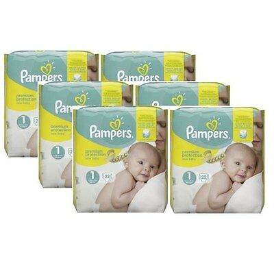 Pampers New Baby taille 1 New Born 2-5kg 132 Couches, PREMIUM Protection