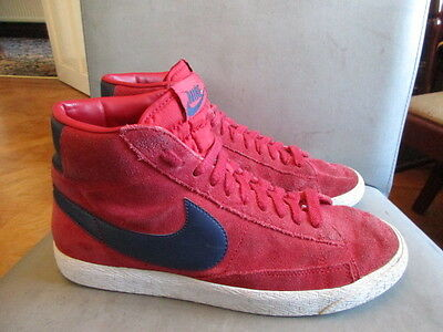 Nike red suede hi top Trainers  size 7