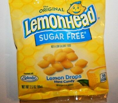 LEMONHEAD  LEMON DROPS Bag Hard Candy Candies SUGAR FREE Splenda Lemonheads