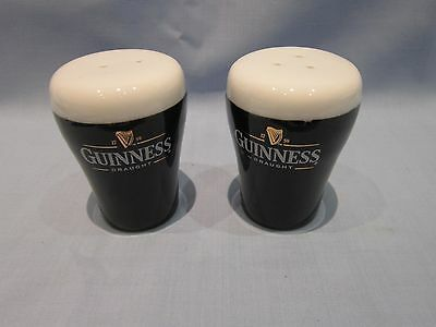 Guinness Condiment Set Shaped As Pint Glasses