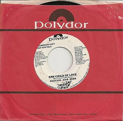 """Usa Soulpeaches & Herb """"one Child Of Love"""" On Usa Polydor Promo Vg"""
