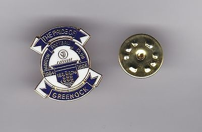 "Morton "" Pride of Greenock "" - lapel badge butterfly fitting"