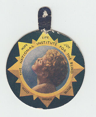 National Institute For The Blind - Charity Day Badge - Blind - Cinderella