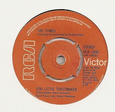 """The Tymes """"you Little Trustmaker"""" On Rca  Ex"""