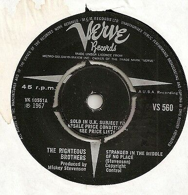 "The Righteous Bros ""stranded In The Middle Of No Place"" On Uk Verve Vg"