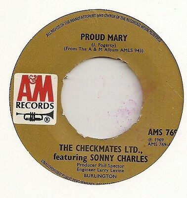"The Checkmates ""proud Mary"" On A&m Vg+"
