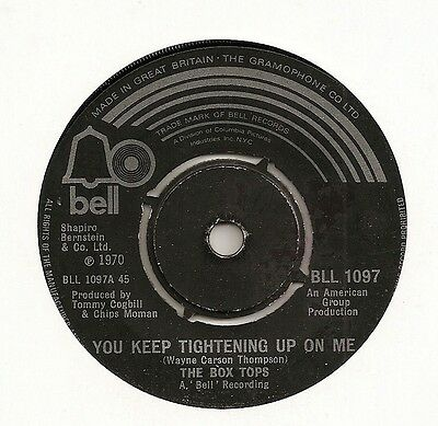"The Box Tops ""you Keep Tightening Up On Me"" On Bell Vg"