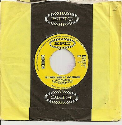 """Redbone """"the Witch Queen Of New Orleans"""" On Uk Epic Vg+"""