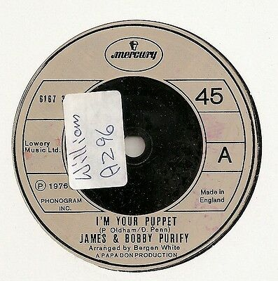 "James & Bobby Purify ""i'm Your Puppet"" On Mercury Vg++"