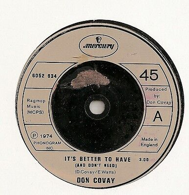 """Don Covay """"it's Better To Have"""" On Mercury Ex"""