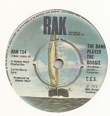 "Ccs ""the Band Played The Boogie"" On Rak Ex"