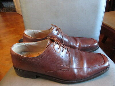 Italian brown leather shoes size uk 10.5 by M&S