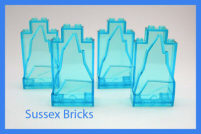 2x4x6 Studs 4 Trans-Blue and White Rock Panels 47847 Lego